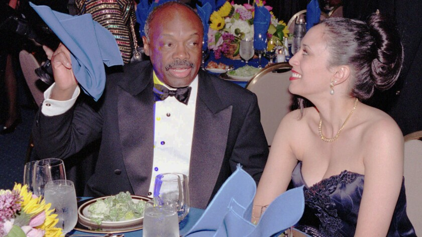 SPECIAL FOR THE LOS ANGELES TIMES––California Assembly Speaker Willie Brown readies for dinner w