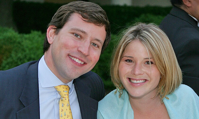 This May 2006 file photo released by The White House shows Jenna Bush with Henry Hager.