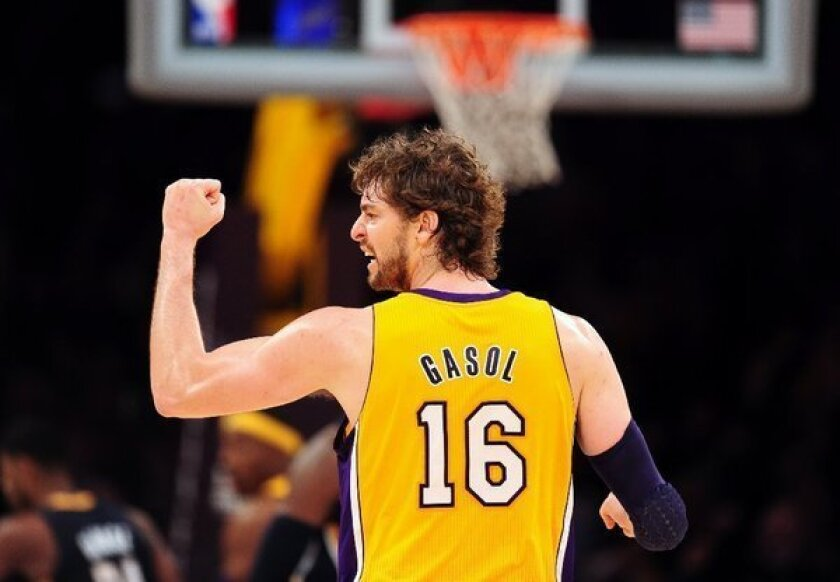 Sore knees will sideline Pau Gasol for Tuesday's game.