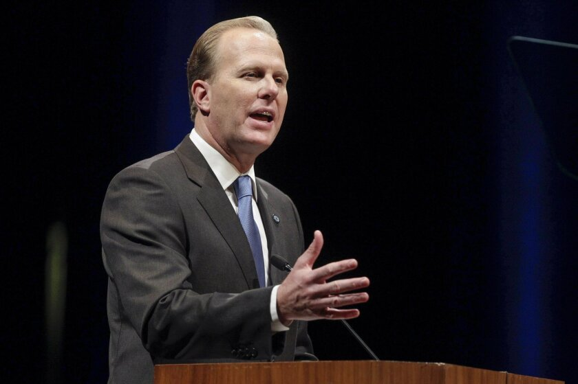Mayor Kevin Faulconer gives his State of the City Address in January.