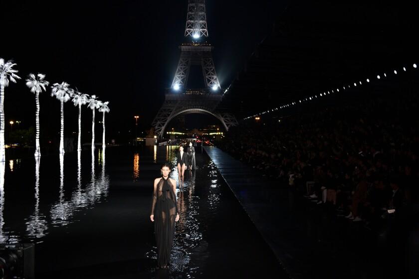 Yves Saint Laurent - Runway - Paris Fashion Week S/S 2019, France - 25 Sep 2018