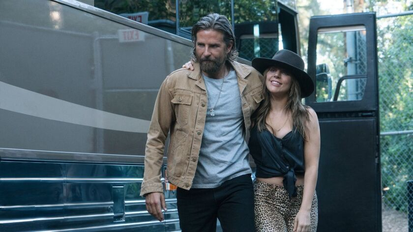 """Bradley Cooper and Lady Gaga in a scene from the movie """"A Star is Born."""""""