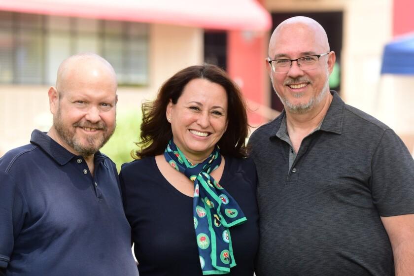 Wynn Bressler (left) Cathy Sandoval and Michael Diddock.