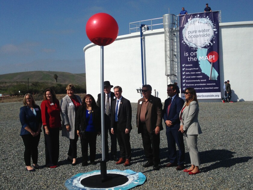 Oceanside celebrated the start of its potable recycled water project in February.