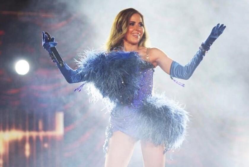 Una imagen de la cantante durante una de sus presentaciones.