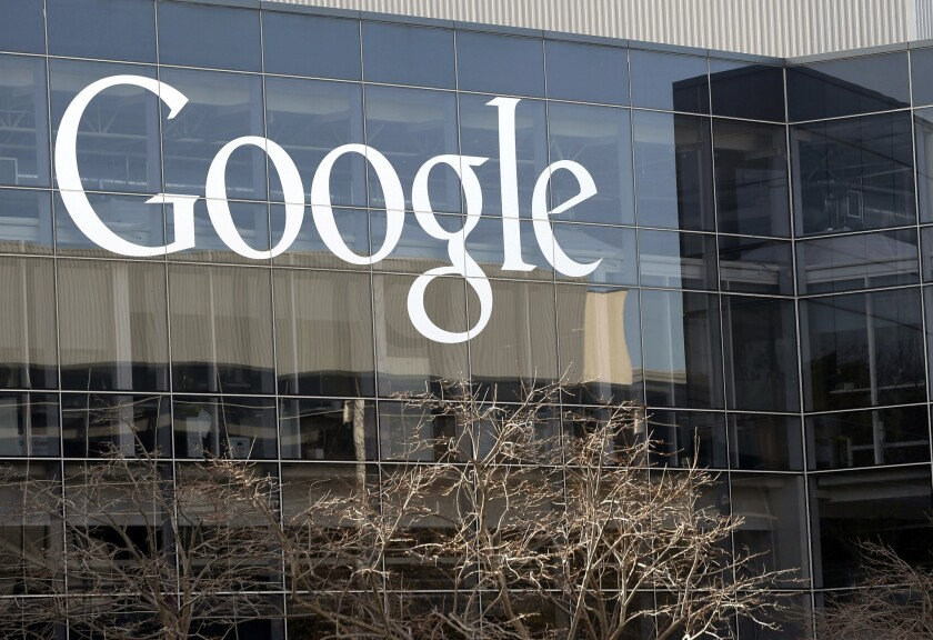 Google's headquarters in Mountain View, Calif., on Jan. 3, 2013.