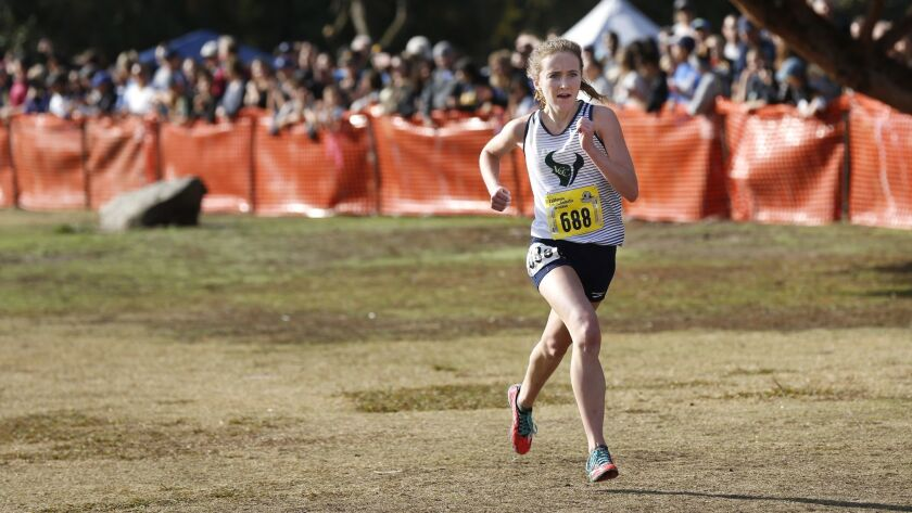La Costa Canyon High senior Kristin Fahy (688) won the Division 2 CIF State Championship with a time