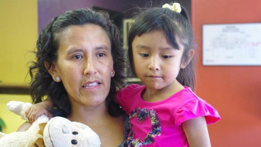 Fotografía de archivo de la activista mexicana Jeanette Vizguerra. EFE/Archivo