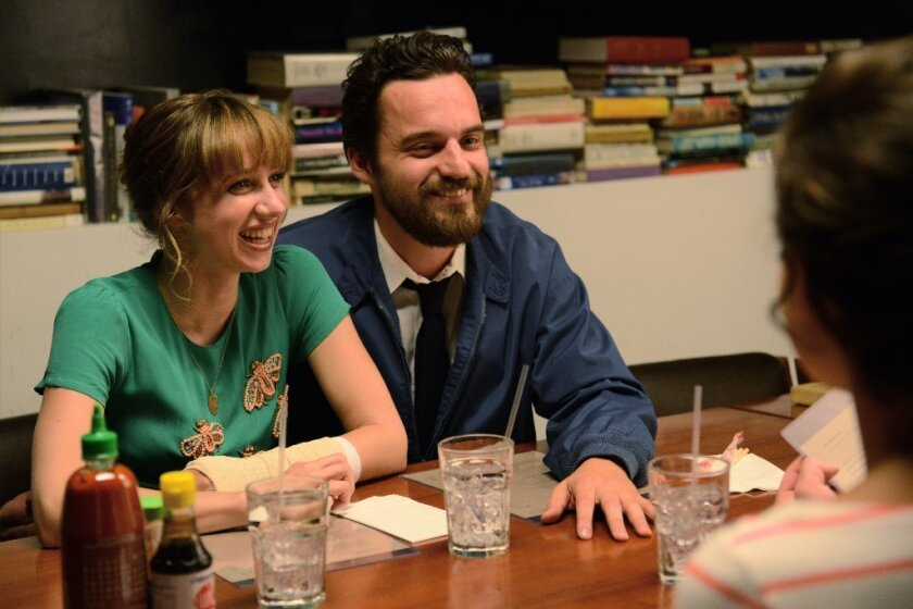 "Zoe Kazan and Jake Johnson in the movie ""The Pretty One."""