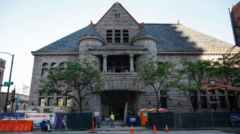 Construction continues May 31, 2018, at the former Chicago Historical Society Building, at 632 N. Dearborn St. in the Near North neighborhood. Tao Chicago, a restaurant and nightclub, is set for a September opening in the landmark building, which once was the Excalibur nightclub.