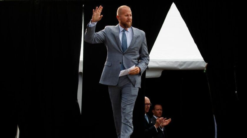Brad Parscale, campaign manager for President Trump, at a rally in Florida last month.
