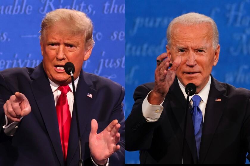 President Trump and Democratic challenger Joe Biden