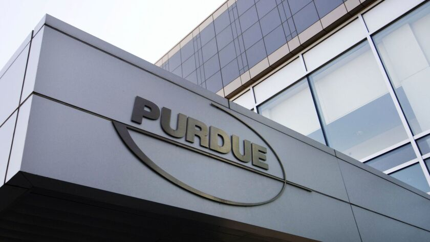 FILE - This May 8, 2007 file photo shows the Purdue Pharma offices in Stamford, Conn. A report relea