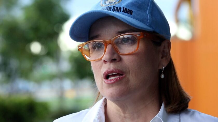Carmen Yulín Cruz, the mayor of San Juan, Puerto Rico, has criticized the Trump administration's response to hurricanes on the island last year.