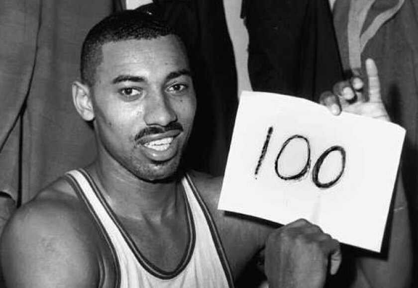 Wilt Chamberlain set the record for most points by a single player in an NBA game, scoring 100 in 1962.