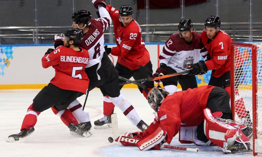 Ice Hockey - Winter Olympics Day 5 - Latvia v Switzerland