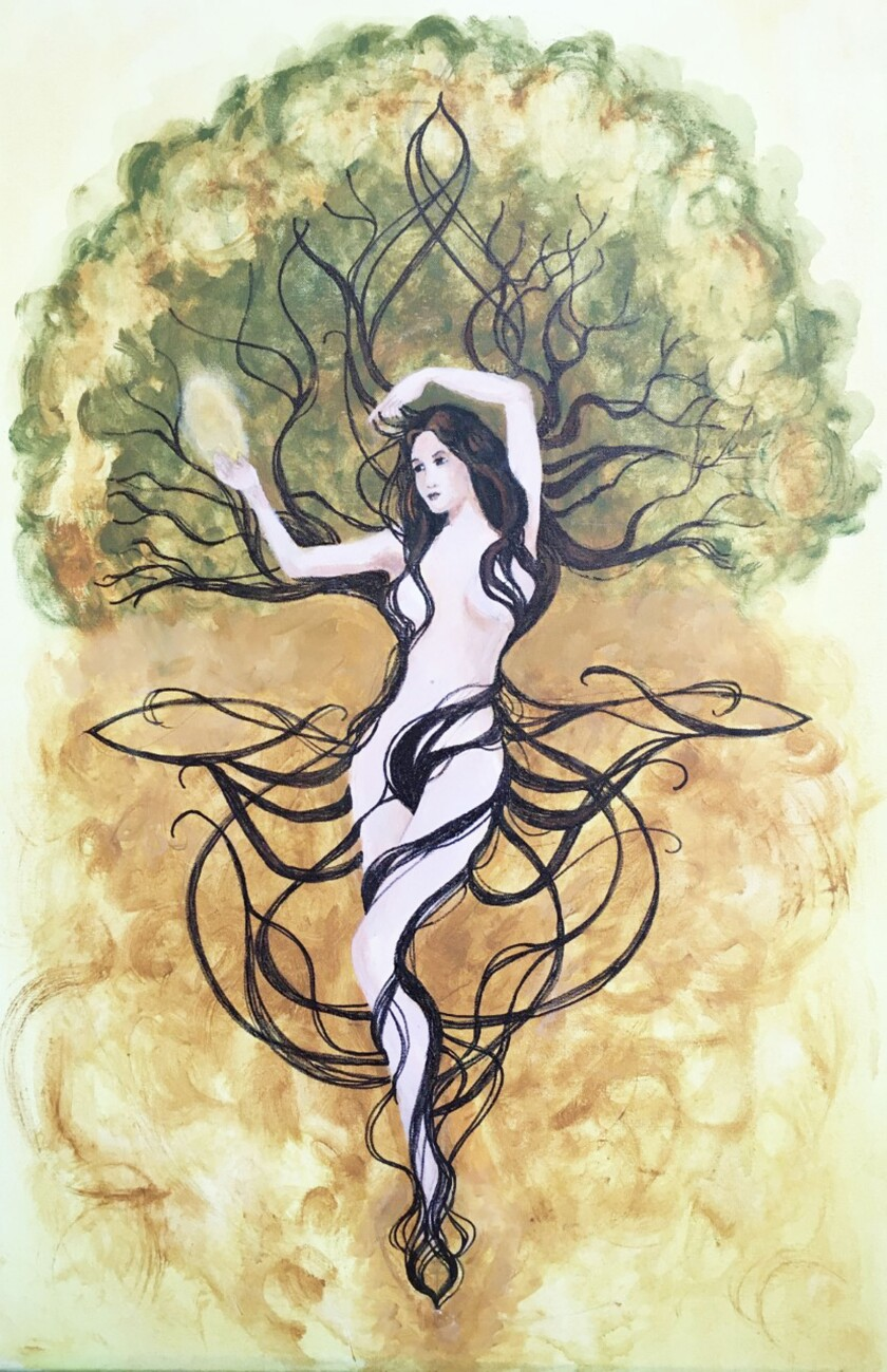 The Celtic goddess Nemetona, painted by Jody Abssy.