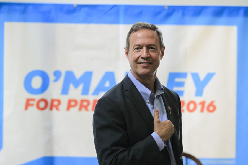 Democratic presidential hopeful and former Maryland Gov. Martin O'Malley, seen in June in New Hampshire, spoke on June 21 to the nation's mayors, gathered in San Francisco.