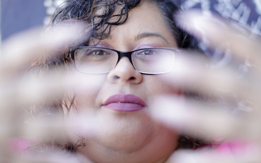 LOS ANGELES, CA -- MARCH 12, 2018: Yesika Salgado is a Los Angeles poet who, at age 34, is writing h