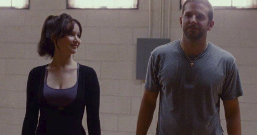 """Jennifer Lawrence and Bradley Cooper star in """"Silver Linings Playbook."""""""