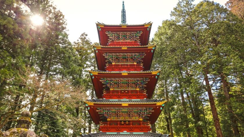A pagoda at Nikko's Toshogu Shrine.
