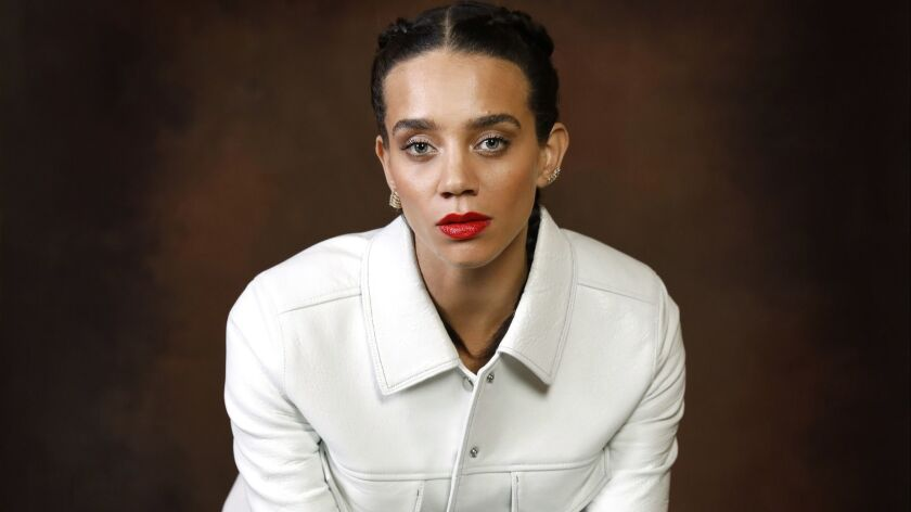 """Actress Hannah John-Kamen, who plays new MCU super-villain Ghost in """"Ant-Man and the Wasp."""""""