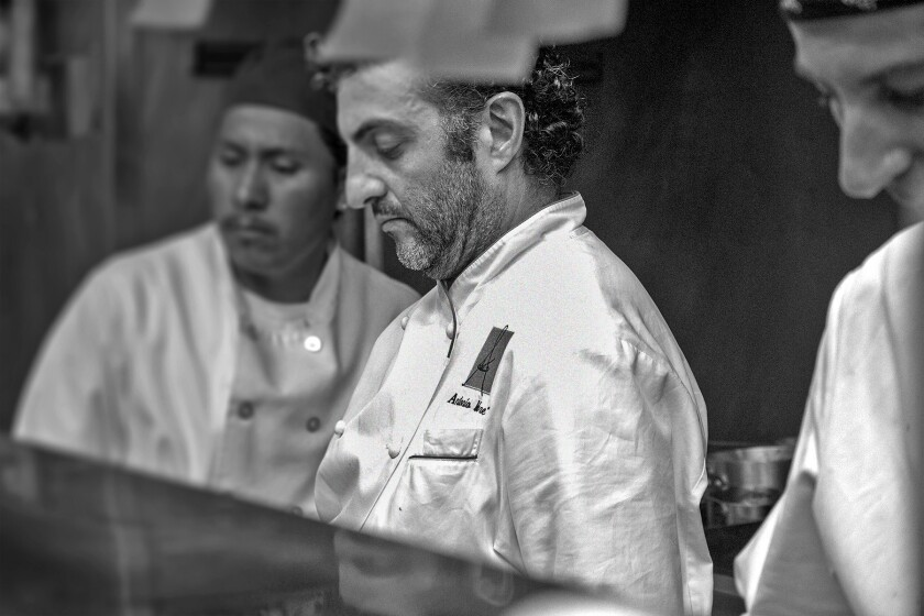 Antonio Mure is chef-owner of Adoteca in Brentwood and will be cooking a dinner to complement the wines of Piedmontese winemaker Marco Bonfante on Monday.