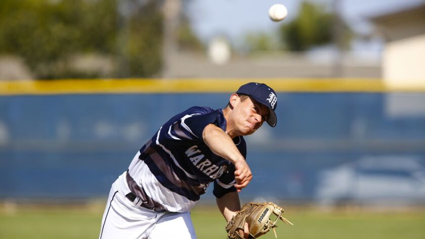 Madison senior David Lantz, with a fastball that touched 92 mph, sparked the Warhawks to a pool-play win.