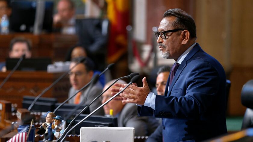 LOS ANGELES, CALIF. -- WEDNESDAY, JUNE 28, 2017: Councilmember Gil Cedillo questions members of the