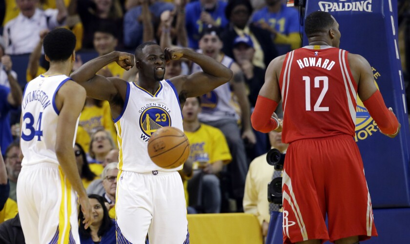 Warriors blow out Rockets, 114-81, to advance to second round of NBA playoffs