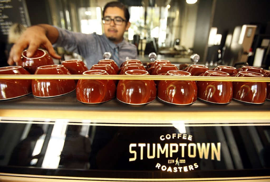 Stumptown Coffee opened in downtown's Arts District.