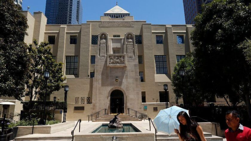 The Central Library in downtown Los Angeles on June 15, 2017.