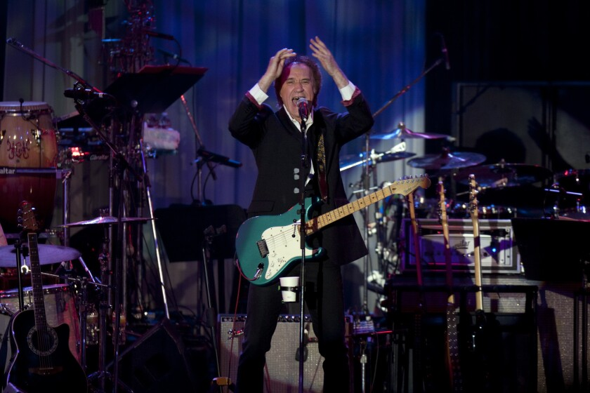 Ray Davies, pictured above at a 2012 Grammy event in Beverly Hills, turns 70 this week.