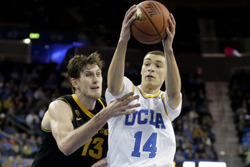 premium selection ba147 e6eb8 Zach LaVine leads UCLA past Arizona State, 87-72 - Los ...