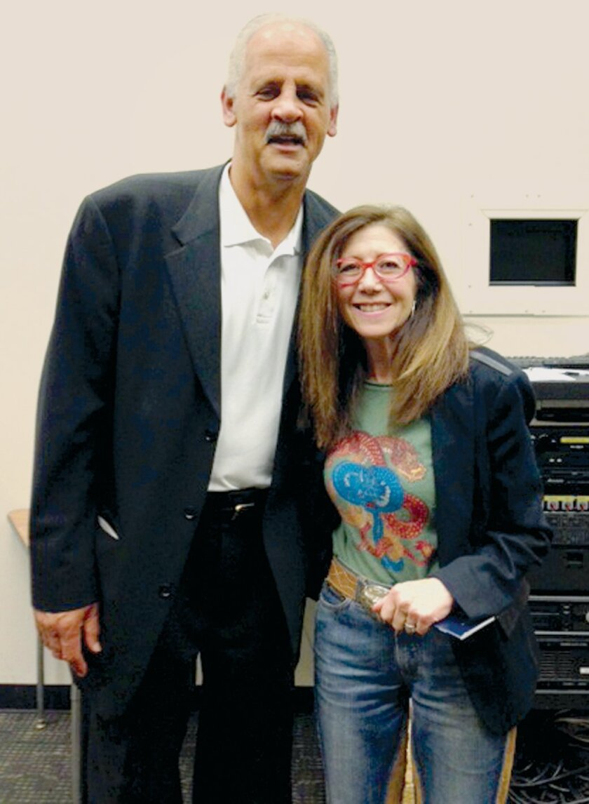 Stedman Graham, Jr. and Catharine Kaufman after his talk at Torrey Pines High School Feb. 11, 2015.