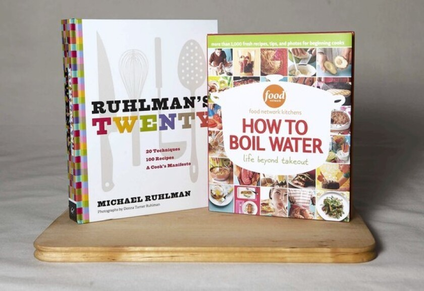 """""""Ruhlman's Twenty"""" by Michael Ruhman and Food Network's """"How to Boil Water."""""""