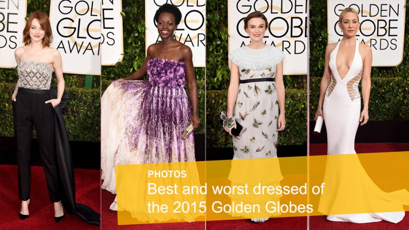 Emma Stone, left, Lupita Nyong'o, Keira Knightley and Kate Hudson are among the red carpet's best and worst dressed.