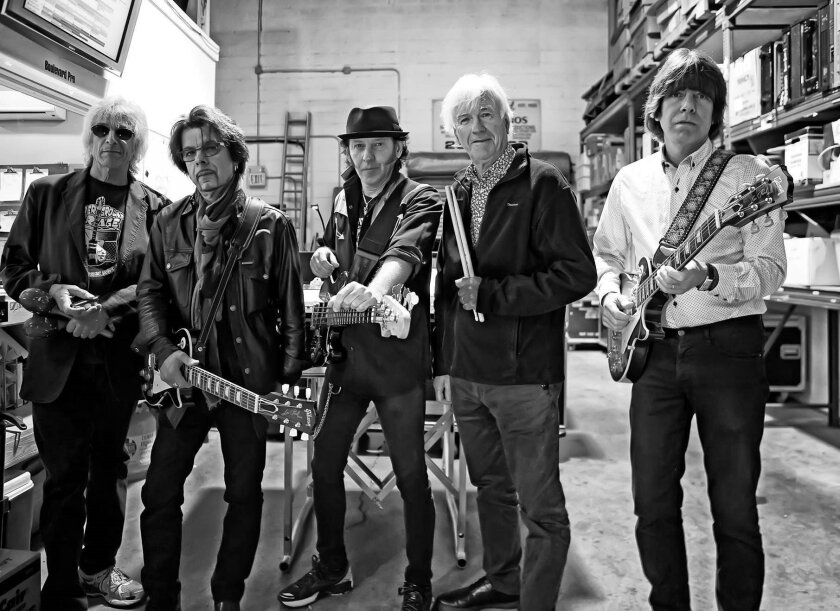 The Yardbirds, from left: Myke Scavone, Johnny A., Kenny Aaronson, Jim McCarty and John Idan.