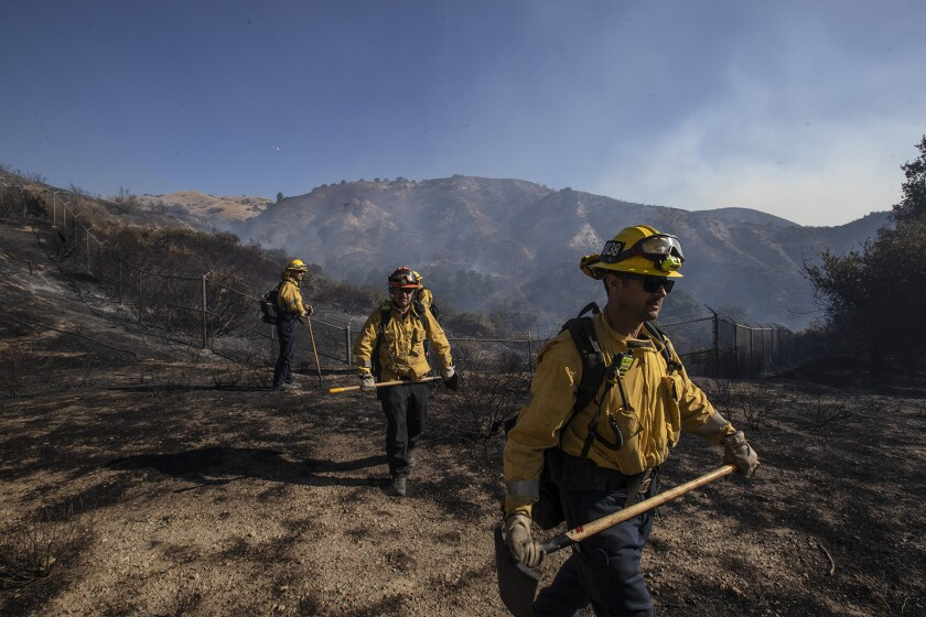 Firefighters make significant progress against Saddleridge fire; all evacuation orders lifted