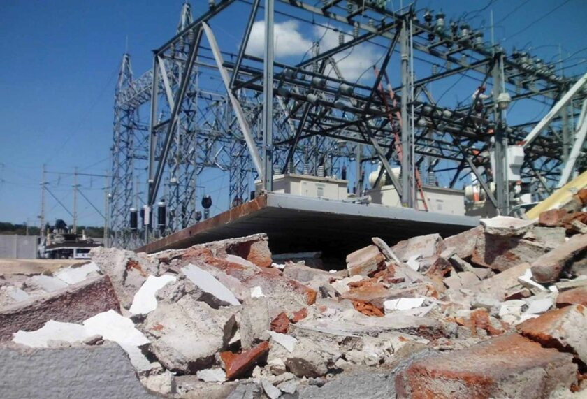 A power station in Sahuayo, in Mexico's Michoacan state, was damaged in an attack Sunday.