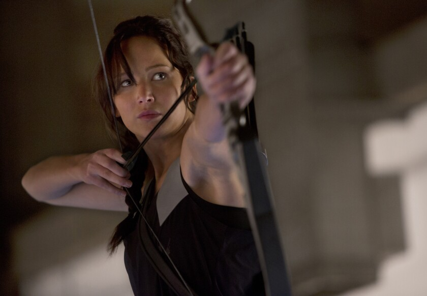 Jennifer Lawrence as Katniss Everdeen in 'The Hunger Games: Catching Fire'