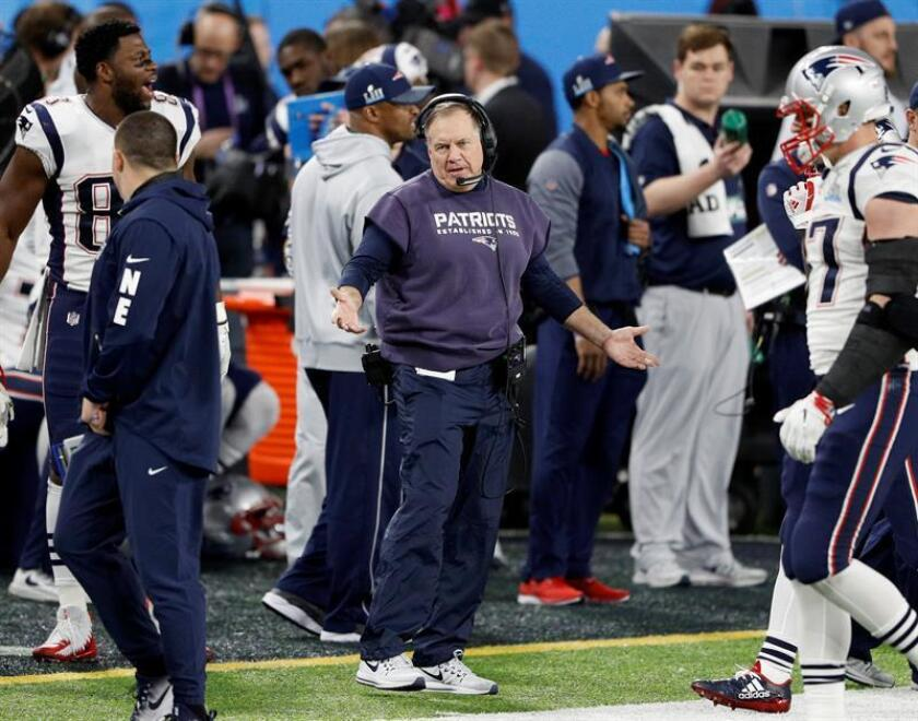 New England Patriots head coach Bill Belichick reacts during the second quarter of Super Bowl LII at US Bank Stadium in Minneapolis, Minnesota, USA, 04 February 2018. EFE