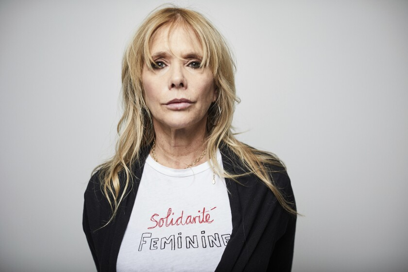 """Rosanna Arquette poses for a portrait Friday, Jan. 3, 2020, in New York. Arquette, one of Harvey Weinstein's accusers, has made plans to be there when Weinstein's sexual misconduct trial starts next week, to lend support to the women who have accused Weinstein of sexual assault and plan to testify against him. """"I feel very protective. I want this to be OK,"""" Arquette said in an interview. """"I think either way, whatever happens, it's still going to be hard for the people that came forward, in terms of retaliation. He's all about that."""" (Photo by Matt Licari/Invision/AP)"""