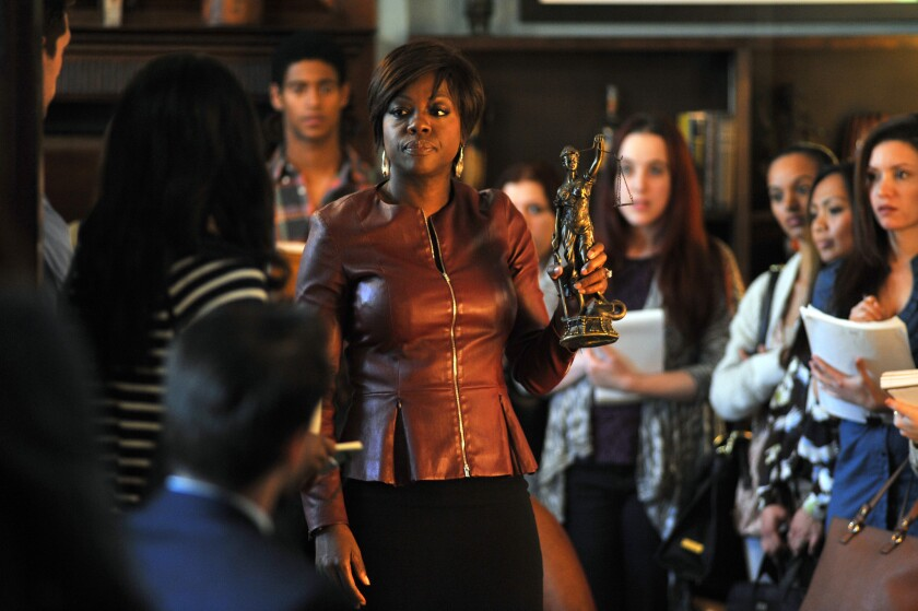 "Viola Davis, center, stars in ABC's ""How To Get Away With Murder,"" which has enjoyed a strong debut."
