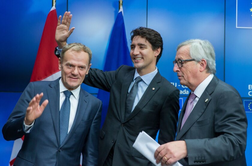 Free trade agreemeent between Europe and Canada