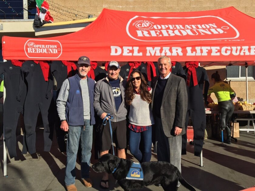 Richard Earnest (DMVA President), Nico Marcolongo (CAF Operation Rebound Program Manager), Jen Grove (DMVA Executive Director), Gary Wheeler (DMVA Board Member).