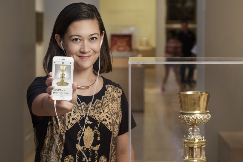 LACMA's new mobile app knows where users are inside the museum and helps them discover pieces of art they might be interested in.