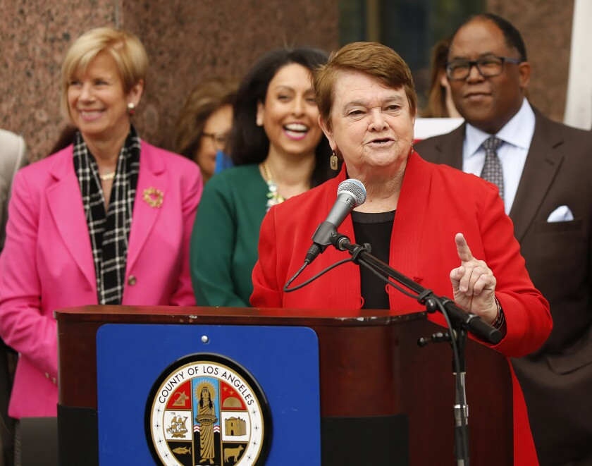 L.A. County Supervisors Janice Hahn, Sheila Kuehl, and Mark Ridley-Thomas