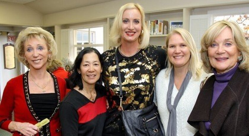Patti Dahlgaard, Mary Liu, Sophia Alsadek, Rebecca Burnett, Marsha Schuster (Photo: Jon Clark)