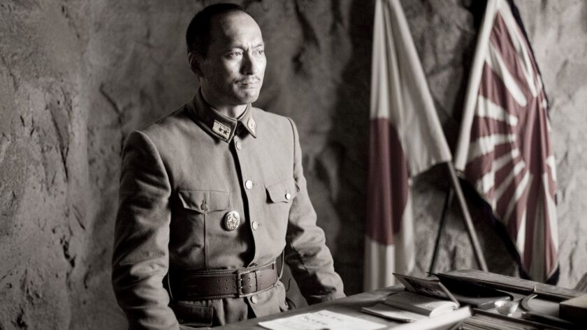 In this photo provided by Warner Bros. Pictures, Ken Watanabe as General Kuribayashi in the World Wa